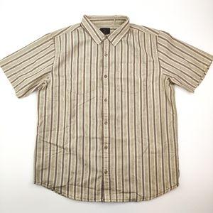 Prana Short Sleeve Button Down Shirt Large